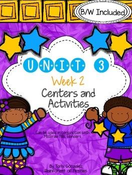 Wonders Unit 3 Week 2 Literacy Centers