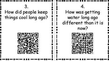Wonders Unit 3 Week 4 Long Ago and Now QR Codes