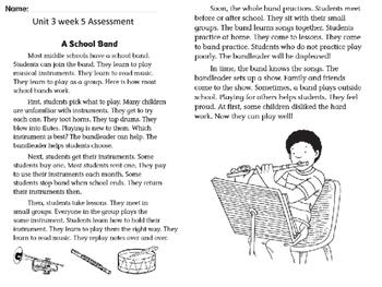 Wonders Unit 3 Week 5 Assessment