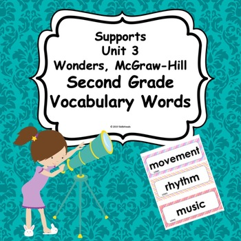 Wonders Unit 3 Weeks 1-5  Second Grade  Vocabulary Words