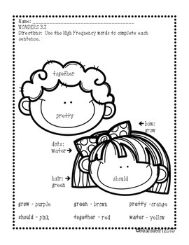 Wonders Unit 3 and 4 High Frequency Words