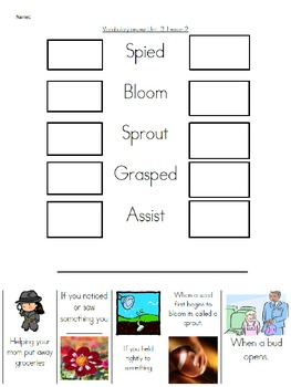 Wonders Unit 3 , week 2 Vocabulary Set