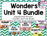 Wonders Unit 4 Bundle-Supplemental Activities for First Grade