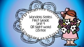 Wonders Unit 4 QR sight words codes