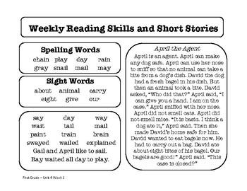 Wonders Unit 4 Reading Homework