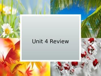 Reading Wonders Unit 4 Review Week for Unit 4 Test