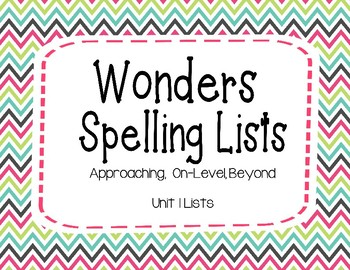 Wonders Unit 4 Spelling Lists (2nd Grade)