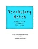 Wonders Unit 4 Vocabulary Match (McGraw-Hill Wonders)