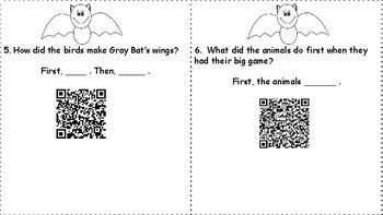 Wonders Unit 4 Week 1 How Bat Got Its Wings QR Codes