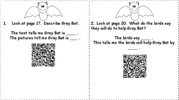 Wonders Unit 4 Week 1 How Bat Got Its Wings QR Codes