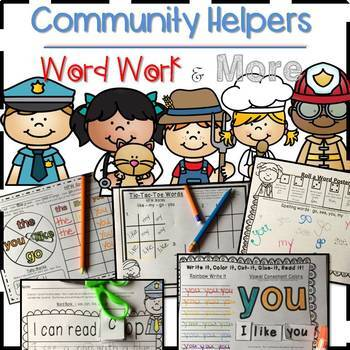 Wonders Unit 4 Week 1 - Kindergarten Writing, Word Work and More