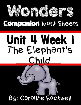 Wonders Unit 4 Week 1 Worksheets/Centers. First Grade.