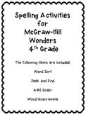Wonders Unit 4 Week 2 Spelling Review