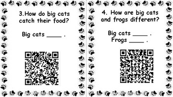 Wonders Unit 4 Week 3 Go Wild! QR Codes