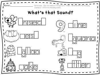 Word Work & More: Phonics, Handwriting, Adjectives, etc.