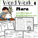 Phonics, Handwriting, Adjectives: Word Work & More