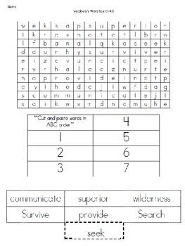 Wonders Unit 4 Week 3 Vocabulary Activity Set