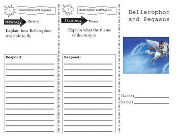 Wonders Unit 4 Week 4 Bellerophon and Pegasus Trifold