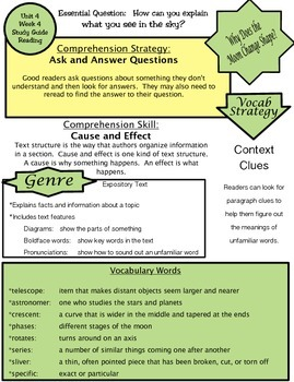 Wonders Unit 4 Week 4 Study guide