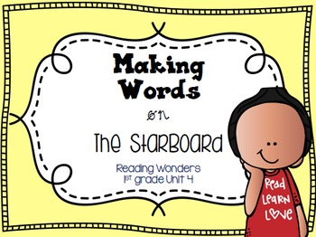 Making Words on the StarBoard 1st grade {Unit 4}
