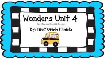 Wonders Unit 4 Word Find Using Decodable Passages