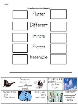 Wonders Unit 4, week 4 Vocabulary activities set