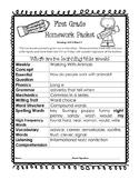 Wonders Unit 4 week 5 Homework Packet