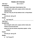 Wonders Unit 5 First Grade Overview for Teachers