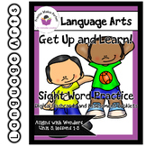 Wonders Unit 5 Get Up and Learn Sight Word Practice Slideshow and Assessment