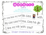 Reading Wonders High-Frequency Word Sentence Strips (Unit 5)