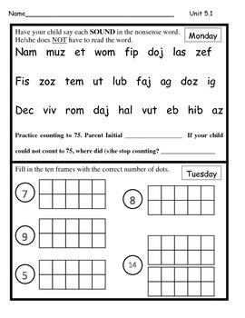 Wonders Unit 5 Homework Bundle