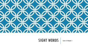 Wonders Unit 5 Sight Words Bundle