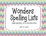 Wonders Unit 5 Spelling Lists (2nd Grade)