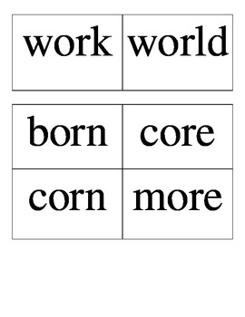 Wonders: Unit 5 Spelling Word Cards