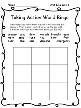 Wonders Unit 5 Spelling and Sight Word Bingo