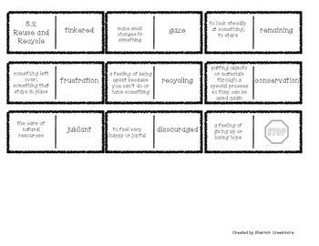 Wonders Unit 5 Vocabulary Dominoes (McGraw-Hill)