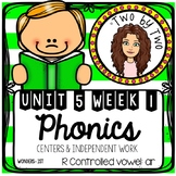 Wonders Unit 5 Week 1 Phonics: R Controlled Vowels: ar