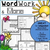 Word Work & More: Phonics, Handwriting, -ip family, Rhymin