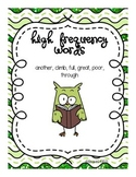 Wonders Unit 5 Week 2 High Frequency Words
