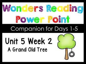 Wonders Unit 5 Week 2 Power Point A Grande Old Tree. Kindergarten