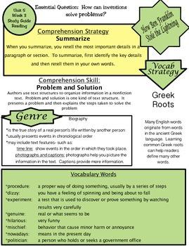 Wonders Unit 5 Week 3 Study guide