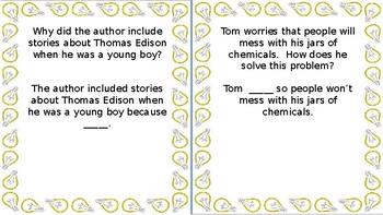 "Wonders Unit 5 Week 3 ""Thomas Edison"""