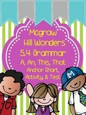 1st Grade Wonders Unit 5 Week 4 Grammar Chart, Activity, and Assessment