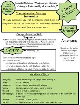 Wonders Unit 5 Week 4 Study guide