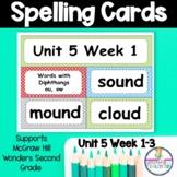 Wonders Unit 5 Weeks 1-5 Spelling Words Second Grade