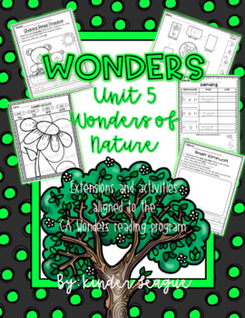 "Wonders Unit 5- ""Wonders of Nature"" Activities and Extensions by KL"