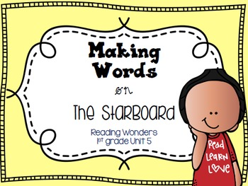 Making Words on the StarBoard 1st grade {Unit 5}