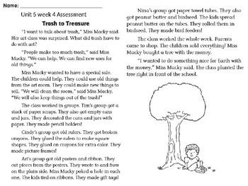 Wonders Unit 5 week 4 assessment