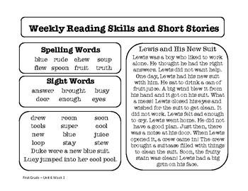 Wonders Unit 6 Reading Homework