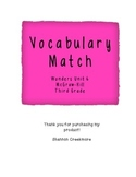 Wonders Unit 6 Vocabulary Match (McGraw-Hill Wonders)